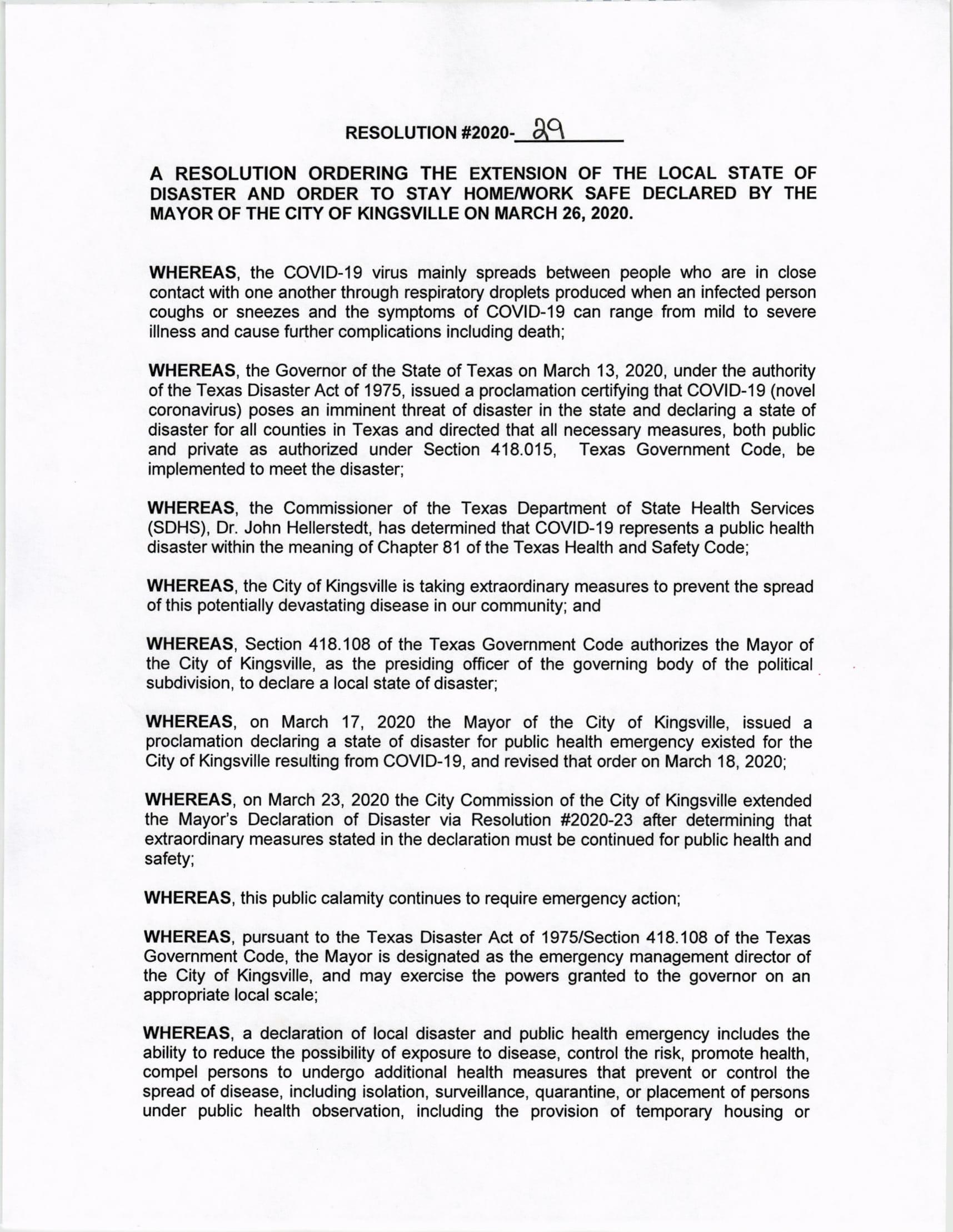 Resolution 2020-29-01