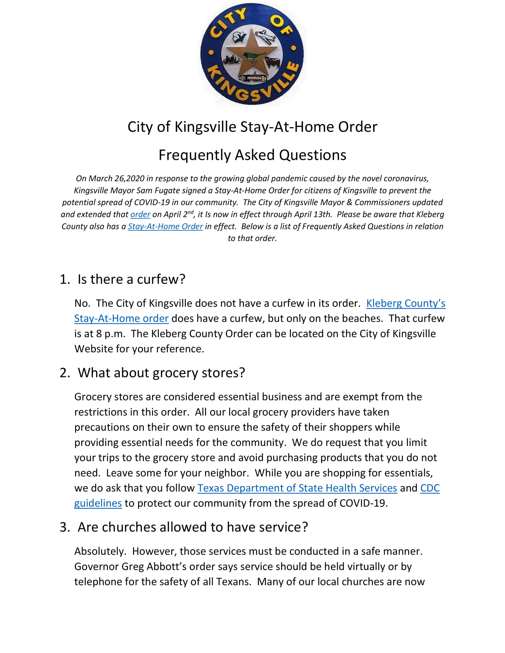 Stay at Home FAQs