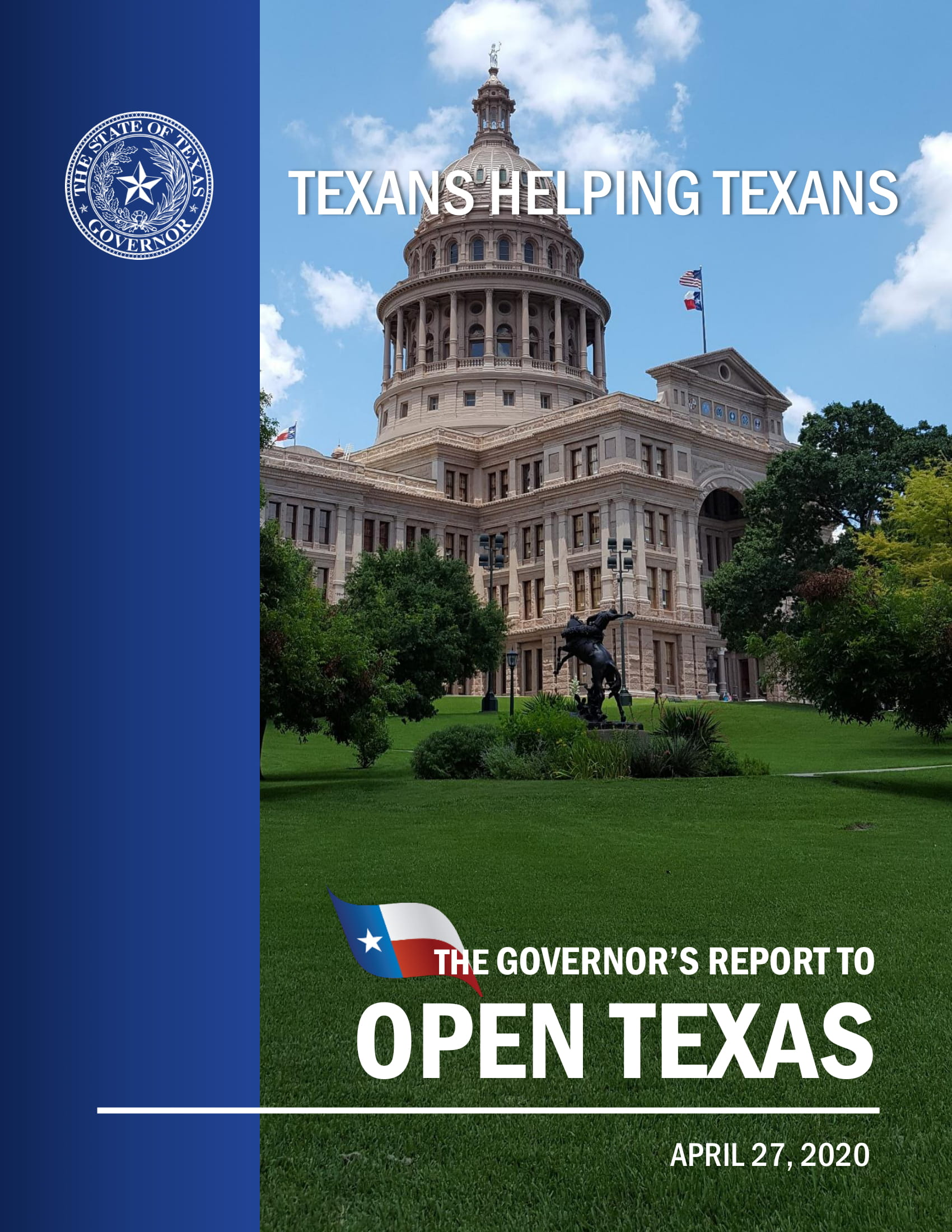 Texans Helping Texans - The Governor's Report to Open Texas